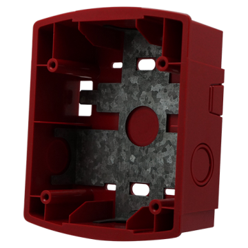 SBBR SYSTEM SENSOR Wall Mount Surface Back Box, Red ************************** CLEARANCE ITEM- NO RETURNS *****ALL SALES FINAL****** **************************