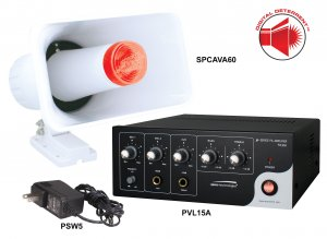 DDAK2 SPECO Digital Deterrent Audio Kit, Includes PVL15A, SPCAVA60 & PSW5 ************************* SPECIAL ORDER ITEM NO RETURNS OR SUBJECT TO RESTOCK FEE *************************