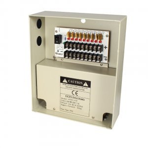 P9W10D SPECO 9CH @ 10A DC Camera Power Supply (W-12VDC-9P/10A) ************************* SPECIAL ORDER ITEM NO RETURNS OR SUBJECT TO RESTOCK FEE *************************