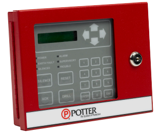 RA-6075 POTTER Remote Annun 32 Char. LCD