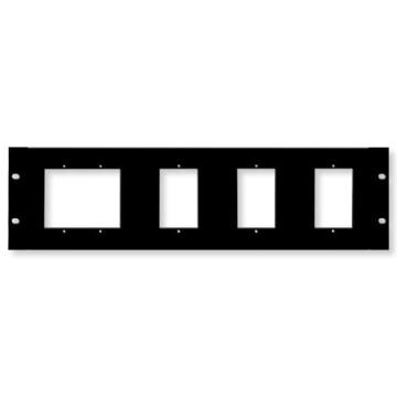 NV-RM3U NUVO TECHNOLOGIES RACK MOUNT PLATE 1 DOUBLE GANG AND 3 SINGLE GANG ************************* SPECIAL ORDER ITEM NO RETURNS OR SUBJECT TO RESTOCK FEE *************************