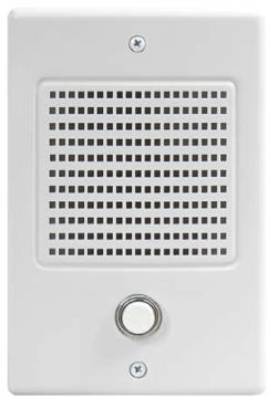DS3B M&S DOOR SPEAKER WITH BELL BUTTON WHITE