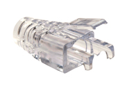 202036J PLATINUM TOOLS EZ-RJ45 Cat6+ Strain Relief (Clear), 100/Jar