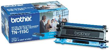 BRT-TN115C BROTHER HIGH YIELD CYAN TONER FOR MFC-9440CN HL4040CN HL4070CRW