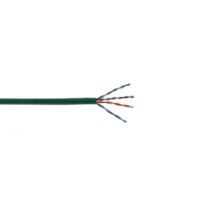 CAT5E-GREEN SCP CAT5E ENHANCED 350 MHz 24 AWG SOLID 4PR UTP CMR, PVC JKT 1000' BOX GREEN