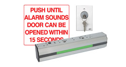 DE8310SX28 RUTHERFORD DELAYED EGRESS MAG LOCK WITH SOUNDER BUILT IN 12/24VDC X28 ALUMINUM FINISH ************************* SPECIAL ORDER ITEM NO RETURNS OR SUBJECT TO RESTOCK FEE *************************