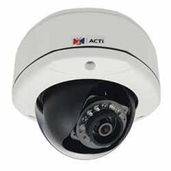 E72A ACTi 3MP OUTDOOR DOME WITH D/N, IR, BASIC WDR, FIXED LENS, F2.93mm/F2.0, H.264, 1080P/30FPS, DNR, AUDIO, MICROSDHC/MICROSDXC, POE, IP66, IK10, DI/DO