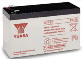 YA-NP7-12 YUASA 12V 7AH LEAD ACID BATTERY