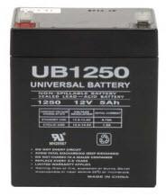 UB1250 UPG 12 Volt 5.0AH Sealed Lead Acid Battery D5741