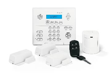 80-649-3N-MN-XT UTC MONITRONICS SIMON XT CRYSTAL PACKAGE W/O X10: CONTROL, BATTERY, CLASS II TRANSFORMER, PHONE CORD, RJ31X JACK, VIDEO, (3) CRYSTAL DOOR/WINDOW SENSORS, (1) SAW PET IMMUNE PIR MOTION SENSOR, (1) 4-BUTTON SAW KEYCHAIN TOUCHPAD