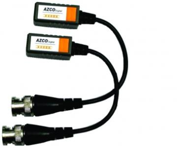 AZBLN202 AZCO 1 CHANNEL PASSIVE VIDEO BALUN WITH PIGTAIL - PAIR