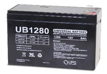 UB1280 UPG 12 Volt 8.0AH Sealed Lead Acid Battery D5743 46021
