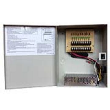 CSE1210-D9 UPG CCTV Power Supply, 12V 10A, 9 Camera, Individual Channel LED's, UL Approved #80088