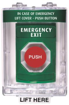 STI-SS-2141EX STI STOPPER STATION PUSH TURN-TO-RESET BUTTON WITH STI-6600 COVER (WITH HORN) GREEN EMERGENCY EXIT ************************* SPECIAL ORDER ITEM NO RETURNS OR SUBJECT TO RESTOCK FEE *************************