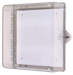 "STI-7531 STI PROTECTIVE CABINET - POLYCARBONATE WITH THUMB LOCK - CLEAR 12"" X 14"" X 6.37"" ************************* SPECIAL ORDER ITEM NO RETURNS OR SUBJECT TO RESTOCK FEE *************************"