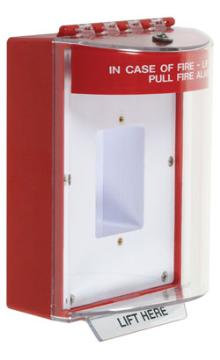 STI-13410FR STI UNIVERSAL STOPPER ENCLOSED BACKBOX SEALED MOUNTING PLATE - RED - MUST SPECIFY TEXT ************************* SPECIAL ORDER ITEM NO RETURNS OR SUBJECT TO RESTOCK FEE *************************