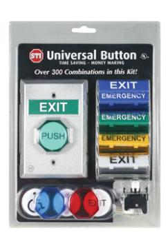STI-UB-1 STI UNIVERSAL BUTTON - 1 GANG 2 FORM C CONTACTS PLUS INTERCHANGEABLE BUTTONS AND MESSAGES ************************* SPECIAL ORDER ITEM NO RETURNS OR SUBJECT TO RESTOCK FEE *************************