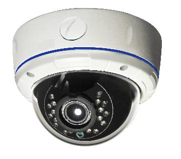 "FPS550 FOCAL POINT 1/3"" Sony Super HADII CCD (960H), Vandal proof outdoor dome camera, 700TVL, 0lux with IR ON and 90 feet IR distance, 2.8-12mm varifocal lens, OSD, Privacy zones, BLC, HLC, WDR, Noise reduction, 3-axis internal bracket, IP66, Dual voltage. Lightning proof."