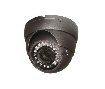 "FPS530G 1/3"" FOCAL POINT SONY SUPER HADII CCD (960H)IR EYEBALL CAMERA,700TVL 0LUX, 2.8-12MM VARIFOCAL LENS,75FT IR DISTANCE,OSD,DNR,WDR,BLC,12VDC, GREY METAL OUTDOOR COLOR IP66."