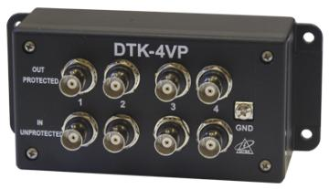 DTK-4VP DITEK FOUR CHANNEL BNC VIDEO PROTECTION, 2.8V CLAMP ************************* SPECIAL ORDER ITEM NO RETURNS OR SUBJECT TO RESTOCK FEE *************************