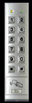 KP-300 ALARM CONTROLS WEATHER-PROOF, VANDAL RESISTANT MULLION MOUNT DIGITAL KEYPAD WITH CARD READER