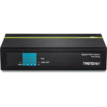 TPE-TG50g TRENDNET 5 PORT GIGABIT POE+ SWITCH - 4XGIGABIT POE PORTS AND 1XGIGABIT PORT - 31 WATTS POE BUDGET