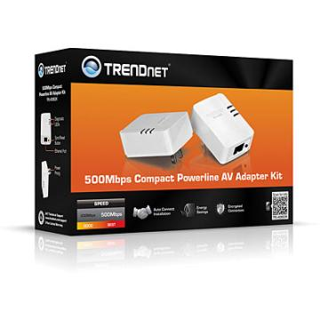 TPL-406E2K TRENDNET 500 AV Compact Powerline Ethernet Adapter kit -EOP-