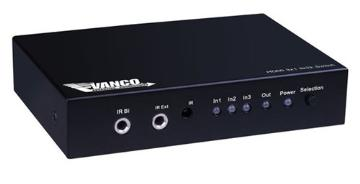 280711 VANCO SWITCHER HDMI 3X1 W/AMPLIFY