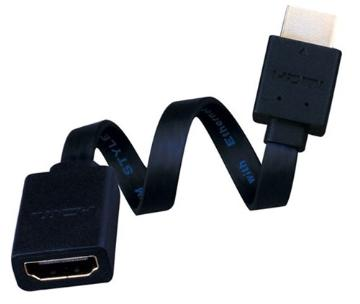 233201X VANCO 1FT MALE TO FEMALE HDMI ADAPTER MAKES PLUGGING INTO FLUSH MT TV EASY
