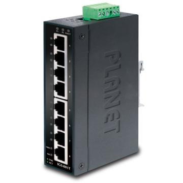 IGS-801T PLANET IP30 Slim type 8-Port Industrial Gigabit Ethernet Switch (-40 to 75 degree C)