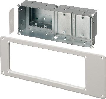 TVBS613 ARLINGTON STEEL 4 GANG RECESSED ELECTRICAL BOX WHITE ************************* SPECIAL ORDER ITEM NO RETURNS OR SUBJECT TO RESTOCK FEE *************************