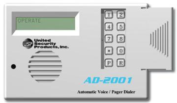 AD2001 USP 2 CHANNEL VOICE DIALER 12VDC ************************* SPECIAL ORDER ITEM NO RETURNS OR SUBJECT TO RESTOCK FEE *************************