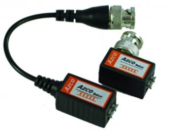 AZBLN214 AZCO 1 CHANNEL PREMIUM PASSIVE VIDEO BALUN - PIGTAIL AND MINI - TOOLLESS - PAIR