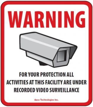 AZD-CCTV AZCO GENERIC CCTV DECAL - 10 PACK