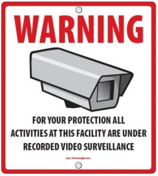 AZD-SIGN AZCO GENERIC CCTV SIGN