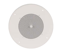 ASUG1 BOGEN AMPLIFIED SPEAKER 1 WATT WITH CEILING GRILLE BRIGHT WHITE FIXED KNOB ************************* SPECIAL ORDER ITEM NO RETURNS OR SUBJECT TO RESTOCK FEE *************************