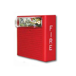 WHASWP-2475W-FR WHEELOCK #9012 WEATHER PROOF AUDIBLE STROBE 24VDC, 75CD, WALL MOUNT (WPBB REQUIRED) RED