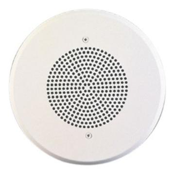"WHST-C8 WHEELOCK #4114 8"" SPEAKER WITH 25/70/ 100V 4 WATT TRANSFORMER ROUND PLASTIC GRILLE FLUSH MOUNT"