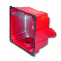 WHWBB-R WHEELOCK #2959 WEATHERPROOF BACK BOX RED