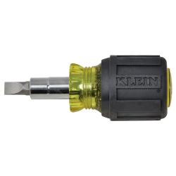 32561 KLEIN TOOLS Stubby Multi-Bit, Cushion-Grip Screwdriver/Nut Driver, std. pack of 6