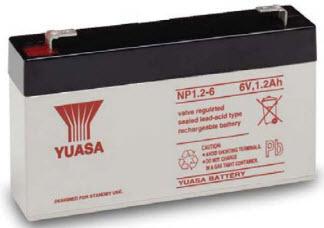 NP1.2-6 YUASA 6V 1.2AH SLA BATTERY - SAME AS 60-914