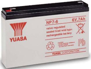 NP7-6 YUASA 6V/7AH SEALED LEAD-ACID BATTERY