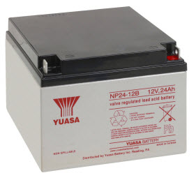 NP24-12-250 YUASA 12 VOLT 24AH SLA BATTERY WITH TERMINALS ************************* SPECIAL ORDER ITEM NO RETURNS OR SUBJECT TO RESTOCK FEE *************************