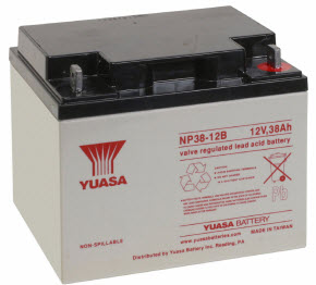 NP38-12FR-INS YUASA 12V/38AH SEALED LEAD ACID BATTERY ************************* SPECIAL ORDER ITEM NO RETURNS OR SUBJECT TO RESTOCK FEE *************************