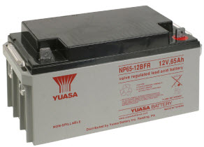 NP65-12FR YUASA 65 AMP FIRE RATED BATTERY ************************* SPECIAL ORDER ITEM NO RETURNS OR SUBJECT TO RESTOCK FEE *************************