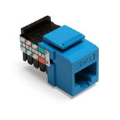 LEV41108-RL5 LEVITON CAT 5 T568A/B WIRING 8 POSITION 8 CONDUCTOR JACK NON-KEYED FITS ENTIRE QUICKPORT LINE BLUE