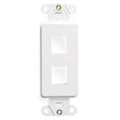 LEV41642-W LEVITON DECORA PLUS DUPLEX EMPTY HOUSING ONLY NO JACKS WHITE