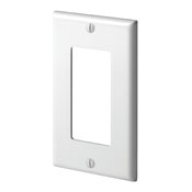 LEV80401-W LEVITON 1 GANG DECORA WALLPLATE WHITE ************************* SPECIAL ORDER ITEM NO RETURNS OR SUBJECT TO RESTOCK FEE *************************