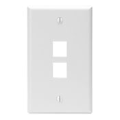 LEV41080-2WP LEVITON 2-PORT FIELD CONFIGURABLE SINGLE GANG WALLPLATE WHITE