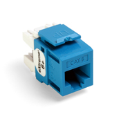 LEV61110-RL6 LEVITON CAT 6 QUIKPORT JACK - BLUE ************************* SPECIAL ORDER ITEM NO RETURNS OR SUBJECT TO RESTOCK FEE *************************